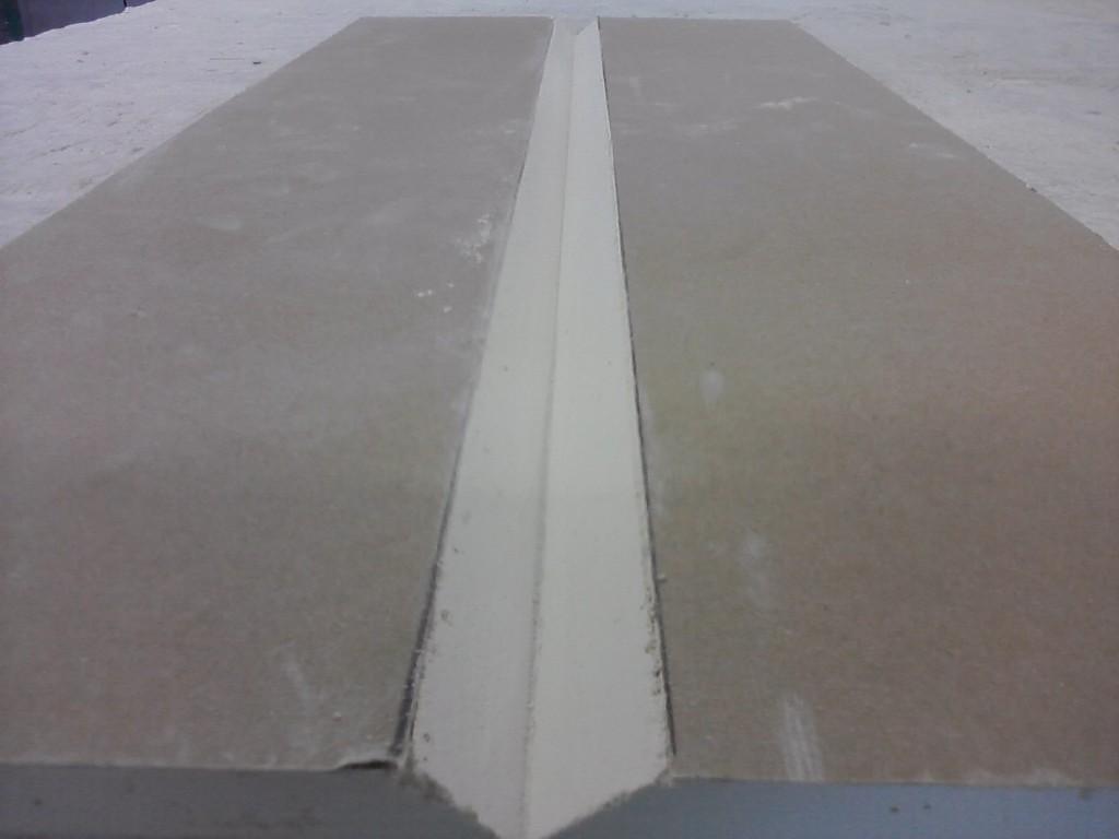 Pierwszy krok składania płyty gipsowej