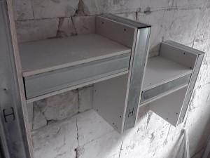 półka z płyty g/k na ścianę